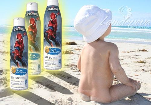 Xịt chống nắng cho bé Spider Man Disney 177ml  của Mỹ