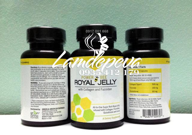 Viên uống sữa ong chứa Power Bee Royal Jelly 1500g